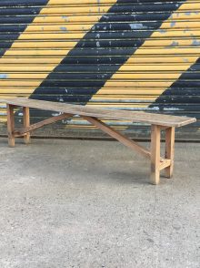 Oak school bench 4