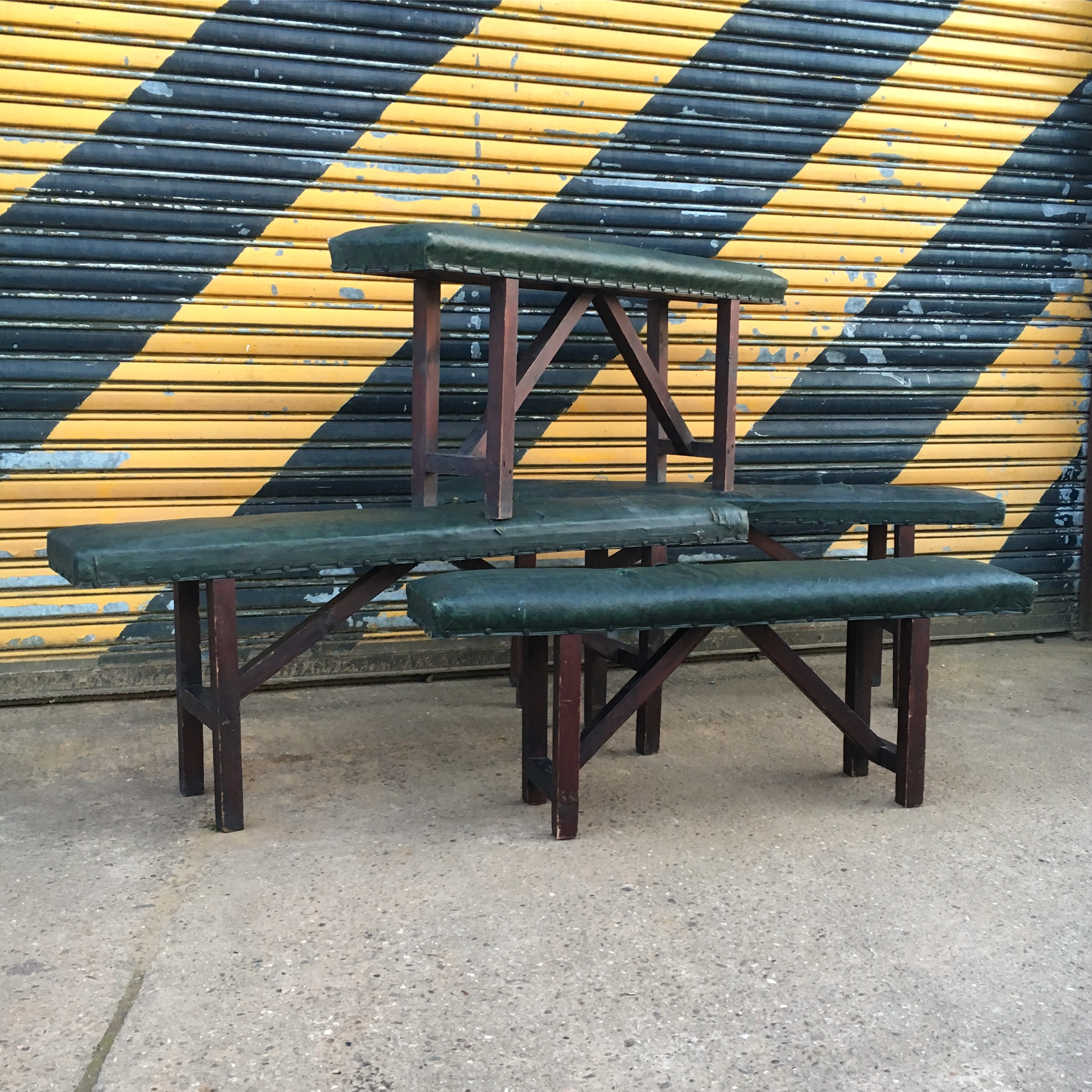 padded school benches | artistic industrial